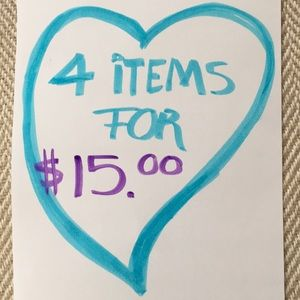 Make a bundle of 4 items 10$ and less, offer 15$